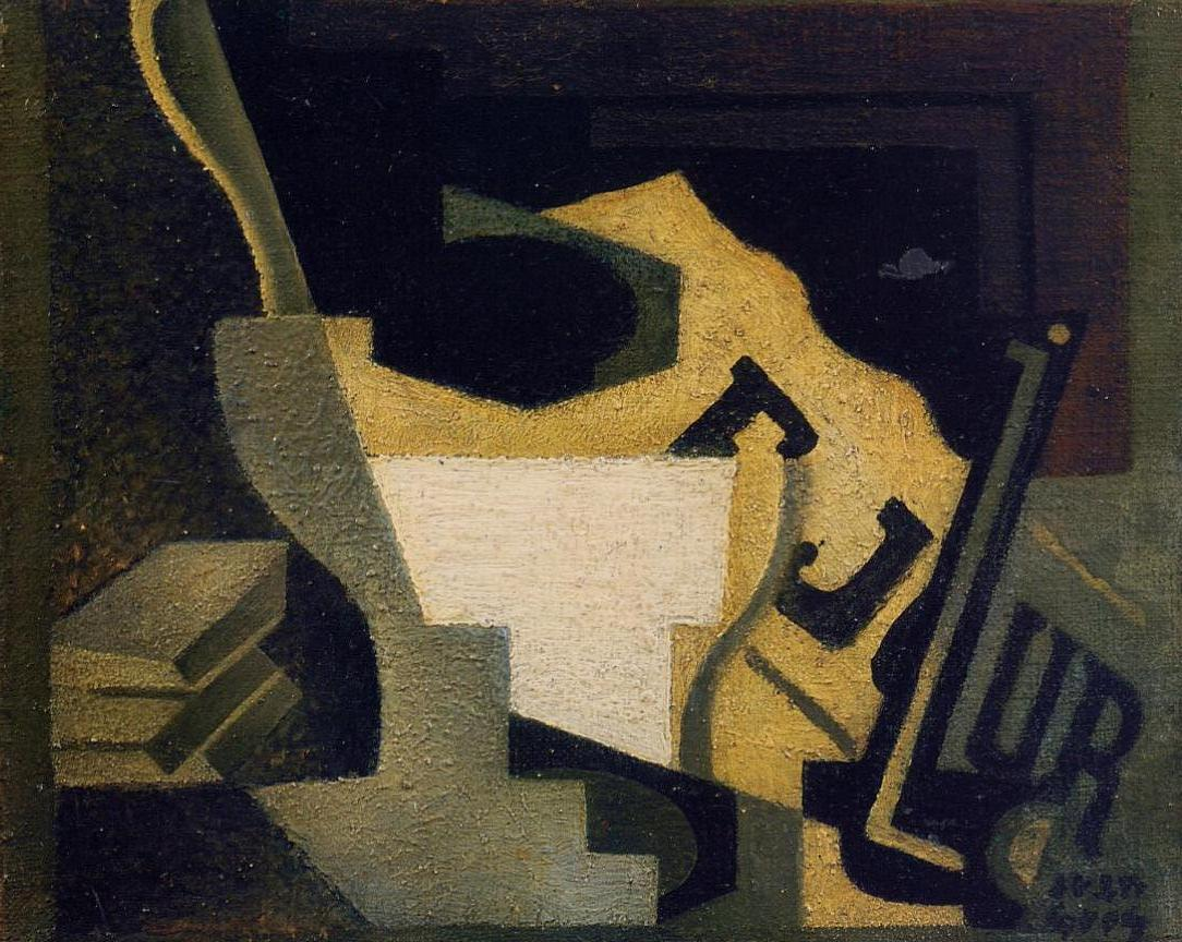 Still Life with Newspaper 1918 | Juan Gris | Oil Painting