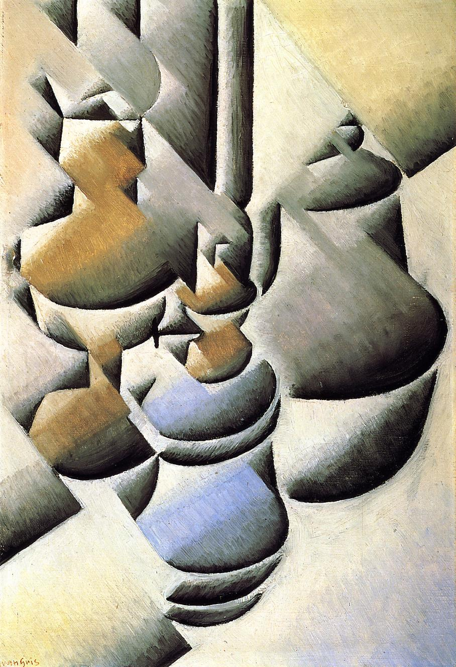 Still life with oil lamps 1912 | Juan Gris | Oil Painting