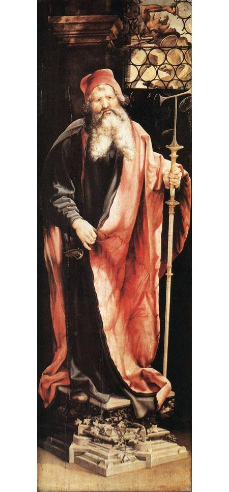 St Anthony the Hermit 1515 | Matthias Grunewald | Oil Painting