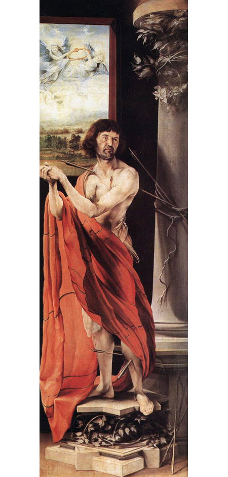 St Sebastian 1515 | Matthias Grunewald | Oil Painting
