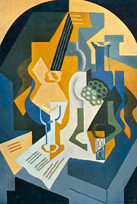 Still Life with Fruit and Mandolin 1919 | Juan Gris | Oil Painting