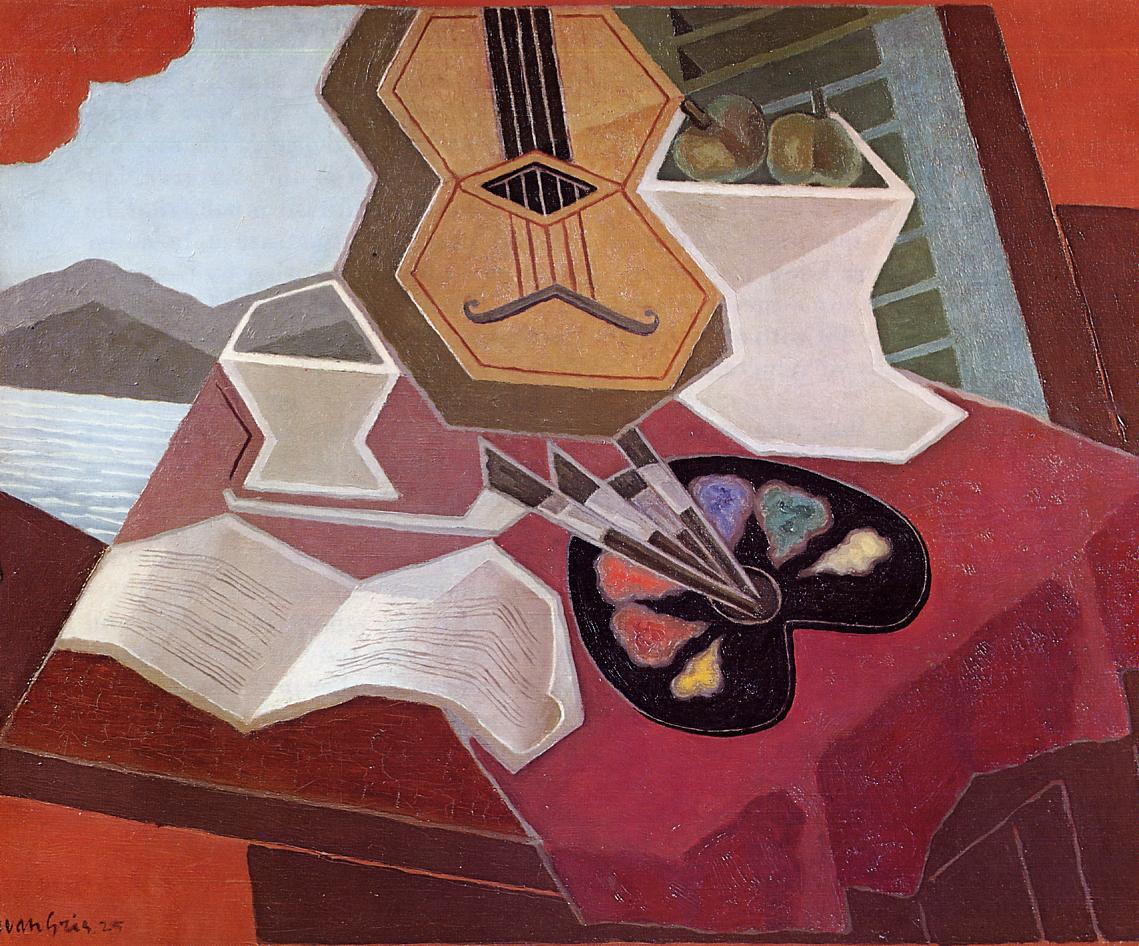 Table Overlooking the Sea 1925   Juan Gris   Oil Painting