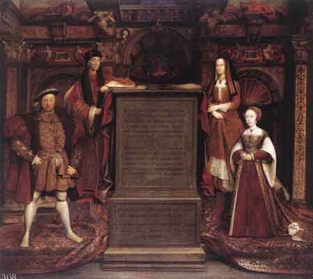 Henry VII Elizabeth of York Henry VIII and Jane Seymour 1667 | Remigius van Leemput | Oil Painting