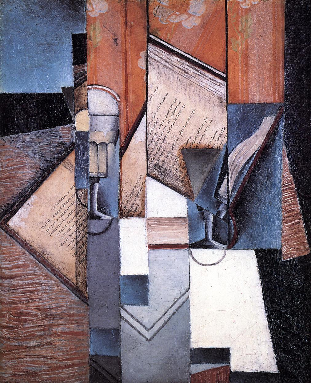 The Book 1913 | Juan Gris | Oil Painting