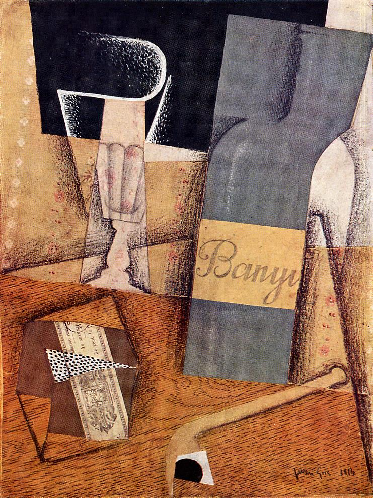 The Bottle of Banyuls 1914 | Juan Gris | Oil Painting