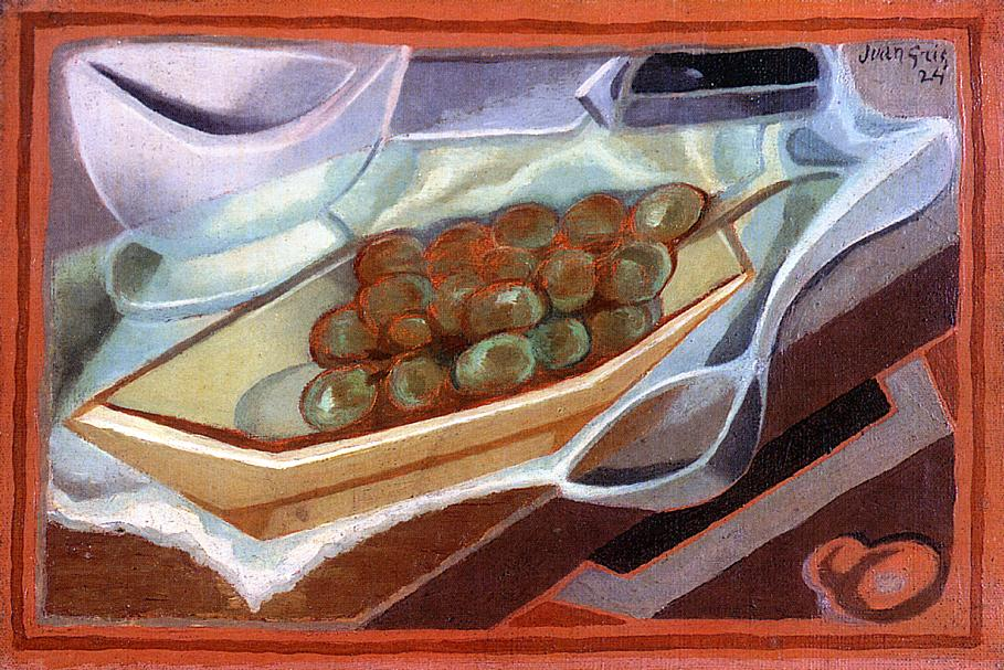 The Bunch of Grapes 1924 | Juan Gris | Oil Painting