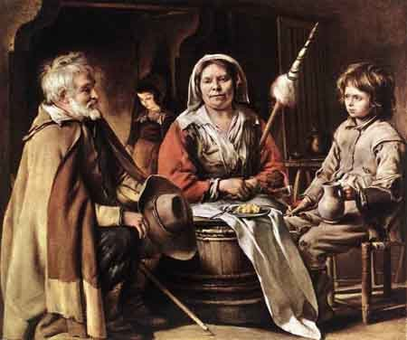 Peasant Interior 1642 | Louis Le Nain | Oil Painting