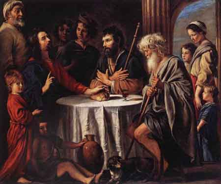 The Supper at Emmaus 1645 | Louis Le Nain | Oil Painting