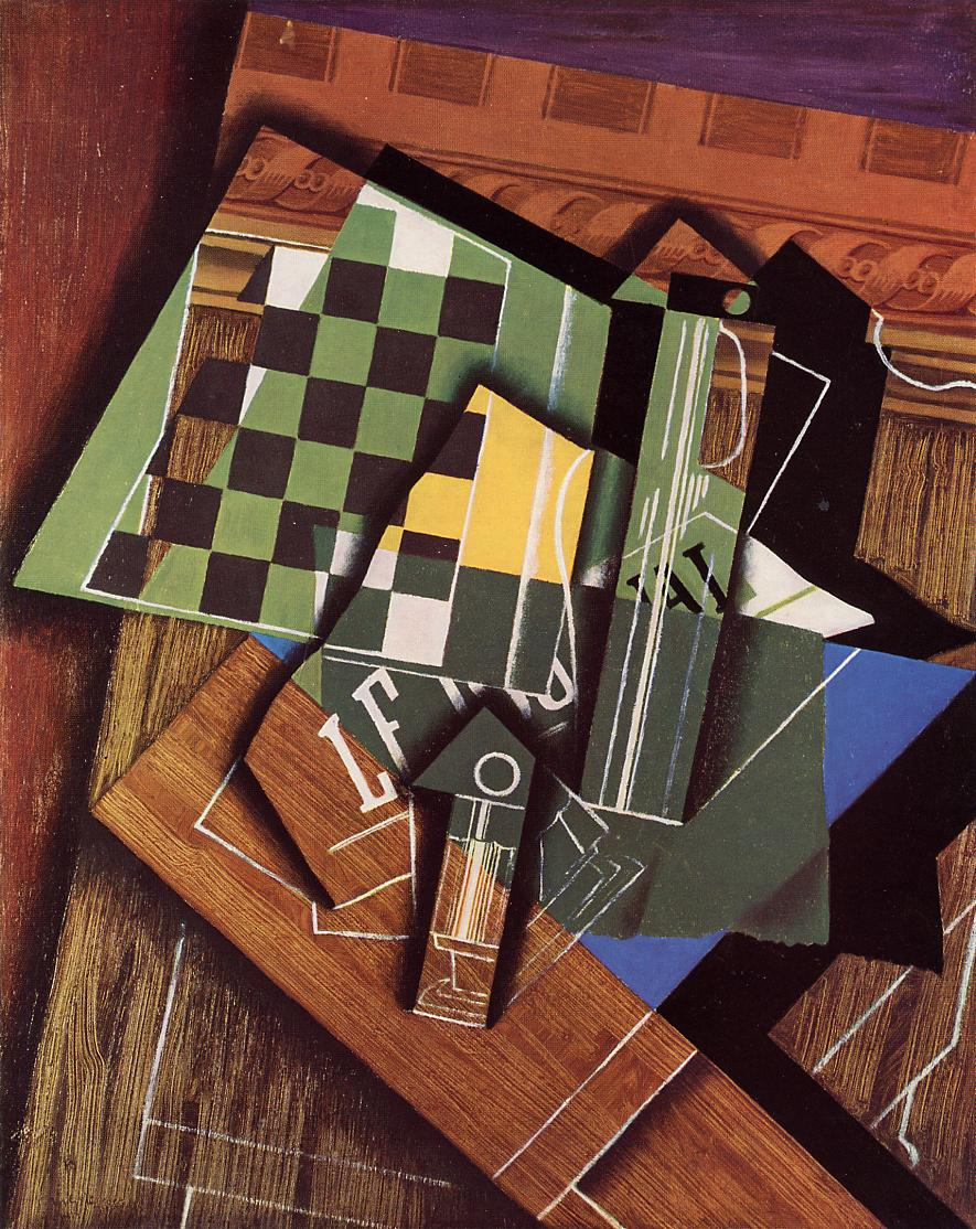 The Checkerboard 1915 | Juan Gris | Oil Painting