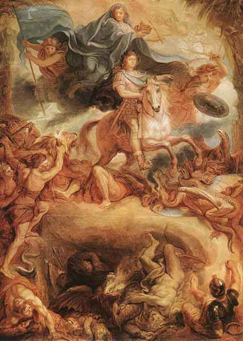 Apotheose of Louis XIV 1677 | Charles Le Brun | Oil Painting