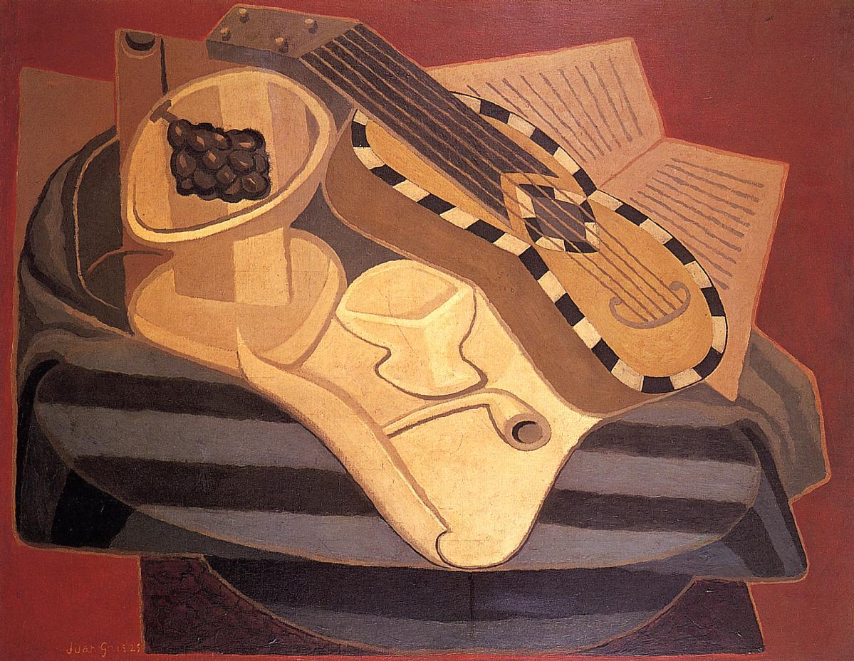 The Guitar with Inlay 1925 | Juan Gris | Oil Painting