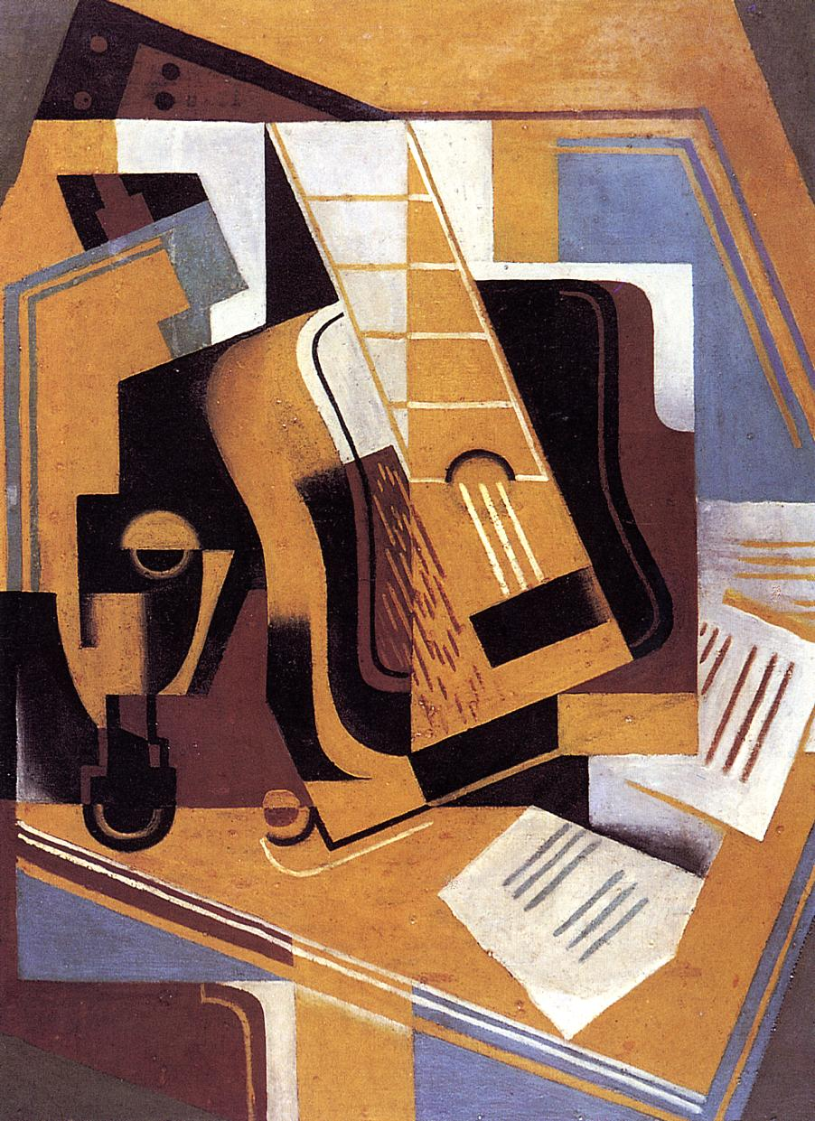 The Guitar 1918 | Juan Gris | Oil Painting