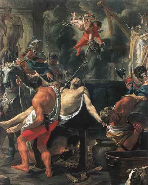 Martyrdom of St John the Evangelist at Porta Latina 1641 1642 | Charles Le Brun | Oil Painting