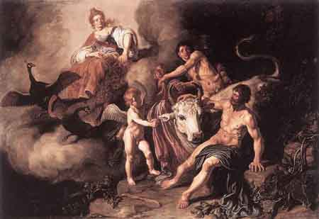 Juno Discovering Jupiter with Io 1618 | Pieter Lastman | Oil Painting