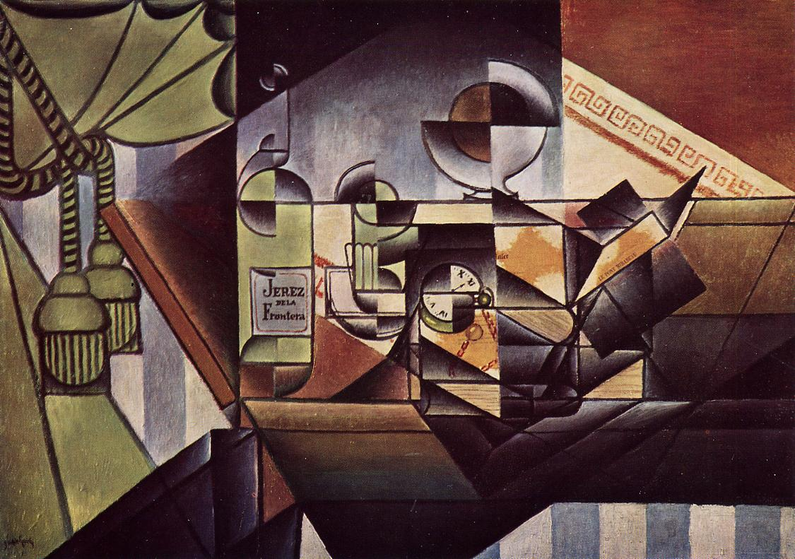 The Watch (aka The Sherry Bottle) 1912 | Juan Gris | Oil Painting