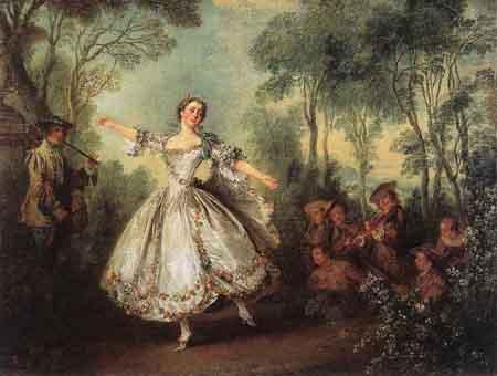 Mademoiselle de Camargo Dancing 1730 | Nicolas Lancret | Oil Painting