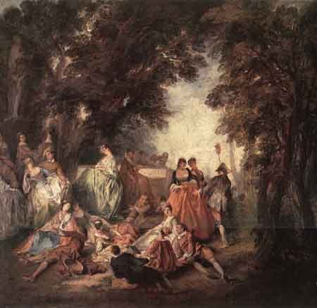 Company in the Park | Nicolas Lancret | Oil Painting