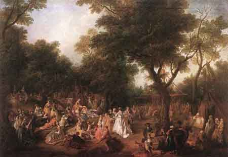 Fete in a Wood 1720 1725 | Nicolas Lancret | Oil Painting