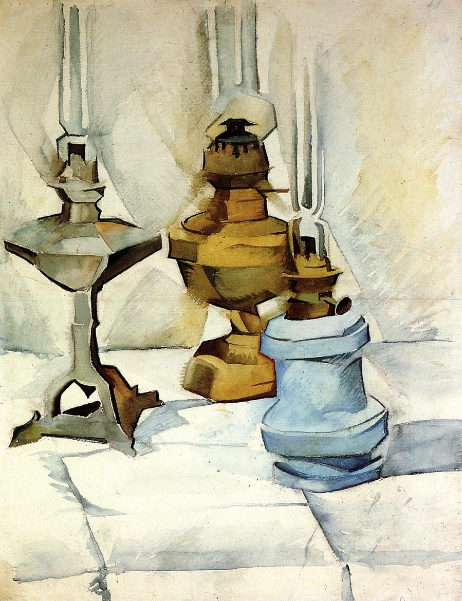 Three Lamps 1910-1911 | Juan Gris | Oil Painting