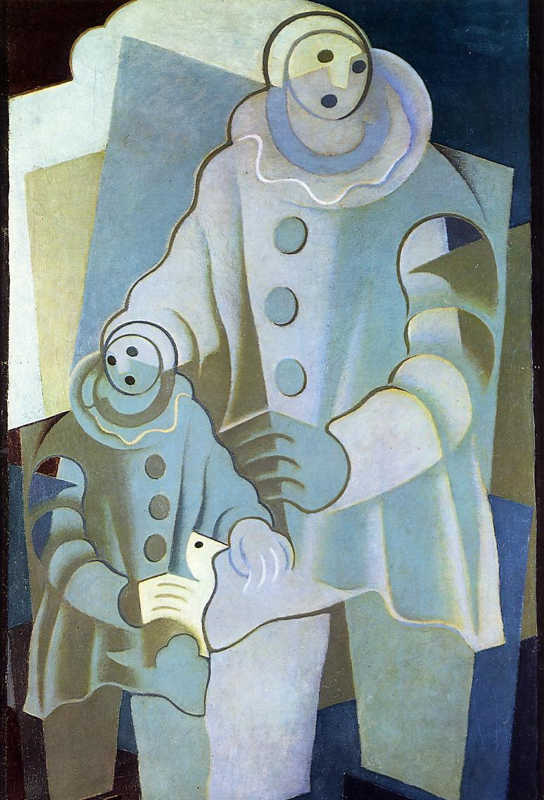 Two Pierrots 1922 | Juan Gris | Oil Painting