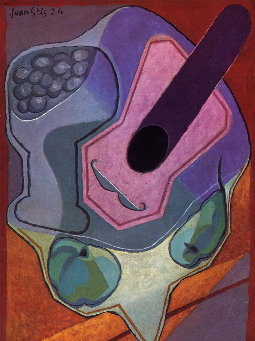 Violin with Fruit 1924 | Juan Gris | Oil Painting