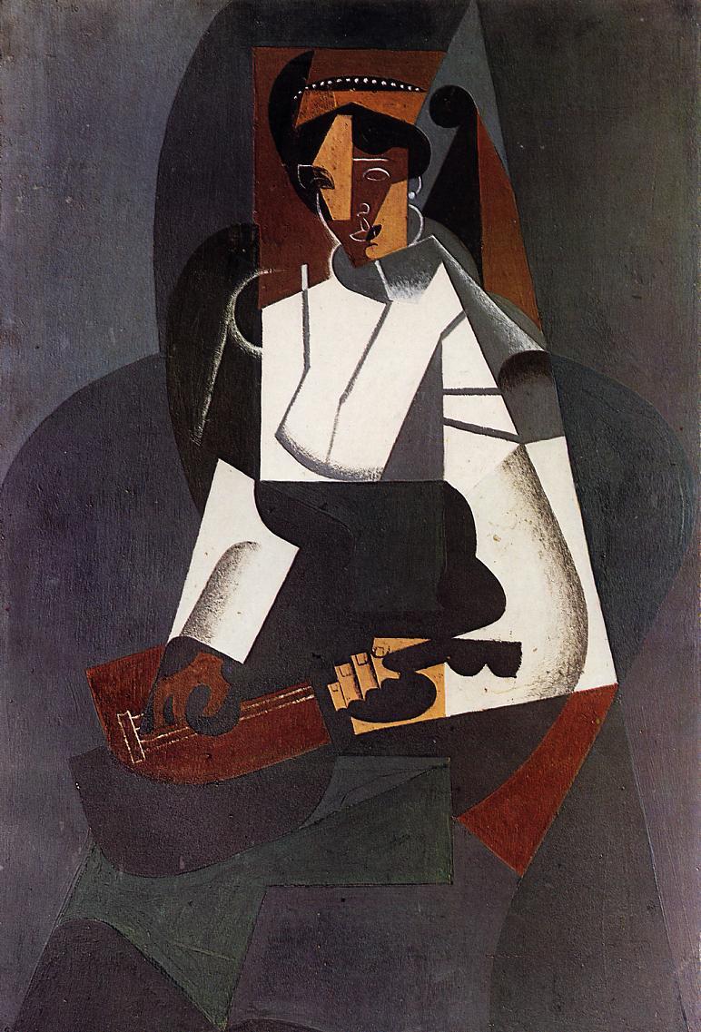 Woman with a Mandolin (after Corot) 1916 | Juan Gris | Oil Painting