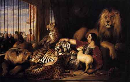 Isaac van Amburgh and his Animals 1839 | Sir Edwin Henry Landseer | Oil Painting