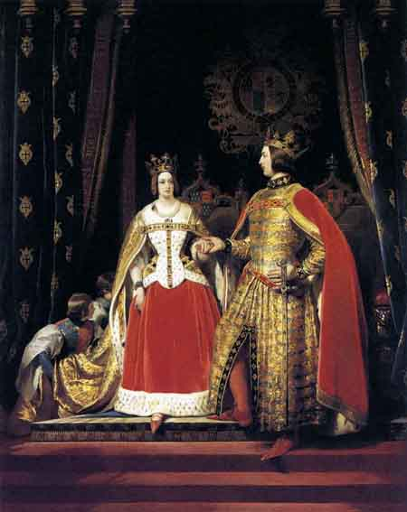 Queen Victoria and Prince Albert at the Bal Costume of 12 May 1842 1842 | Sir Edwin Henry Landseer | Oil Painting