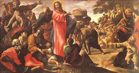 Miracle of the Bread and Fish 1620 1623   Giovanni Lanfranco   Oil Painting