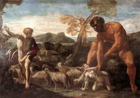 Norandino and Lucina Discovered by the Ogre 1624 | Giovanni Lanfranco | Oil Painting