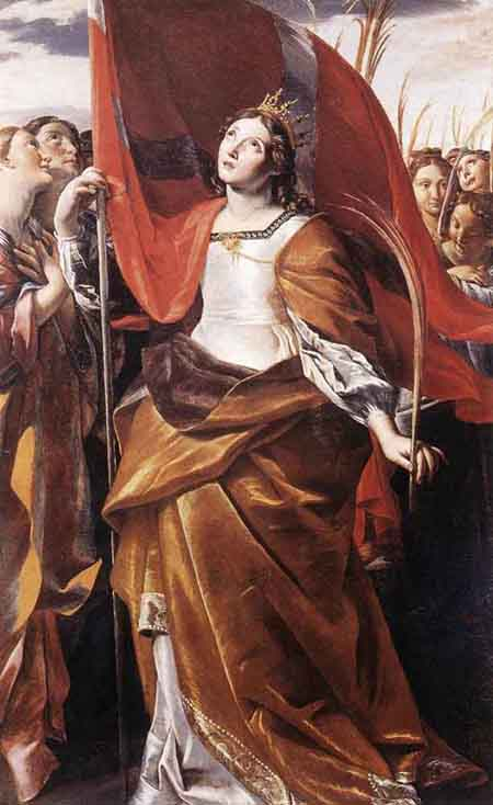 St Ursula and the Virgins 1622 | Giovanni Lanfranco | Oil Painting