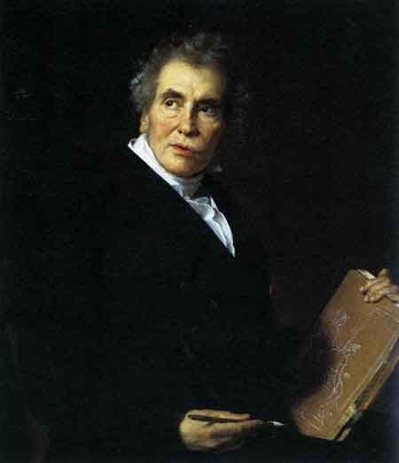 Portrait of Jacques Louis David 1824 | Jerome Martin Langlois | Oil Painting