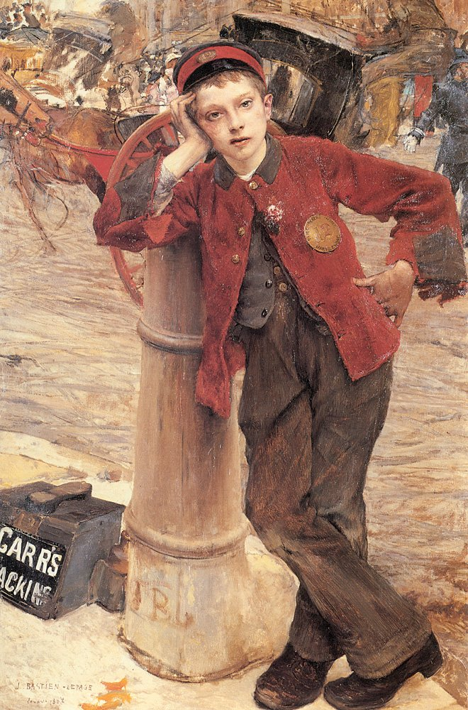 The London Bootblack | Jules Bastien Lepage | Oil Painting