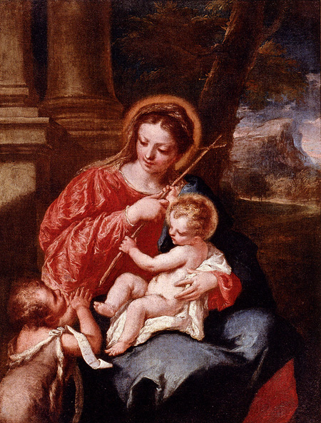 Madonna And Child With Saint John The Baptist | Giovanni Antonio Guardi | Oil Painting