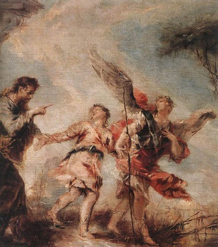 The Departure of Tobias 1750 | Giovanni Antonio Guardi | Oil Painting