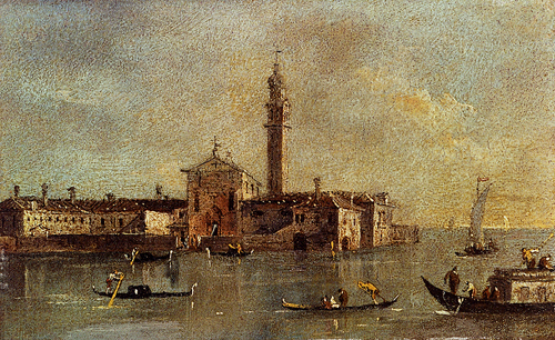 View Of The Island Of San Giorgio In Alga Venice | Francesco Guardi | Oil Painting