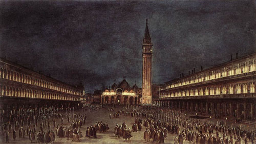 Nighttime Procession in Piazza San Marco 1758 | Francesco Guardi | Oil Painting