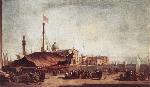 The Piazzetta Looking toward San Giorgio Maggiore 1758 | Francesco Guardi | Oil Painting