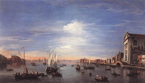 The Giudecca Canal with the Zattere 1759 | Francesco Guardi | Oil Painting
