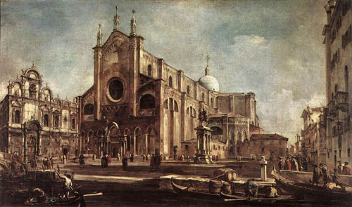 Campo Santi Giovanni e Paolo 1762 1763 | Francesco Guardi | Oil Painting