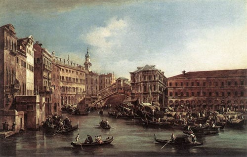 The Rialto Bridge with the Palazzo dei Camerlenghi 1763 | Francesco Guardi | Oil Painting
