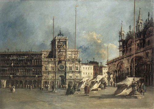The Torre delOrologio 1765 1770 | Francesco Guardi | Oil Painting