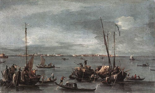 The Lagoon Looking toward Murano from the Fondamenta Nuove 1765 1770 | Francesco Guardi | Oil Painting