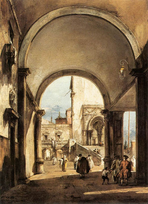 An Architectural Caprice 1777 | Francesco Guardi | Oil Painting