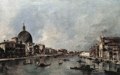 The Grand Canal with San Simeone Piccolo and Santa Lucia 1780 | Francesco Guardi | Oil Painting