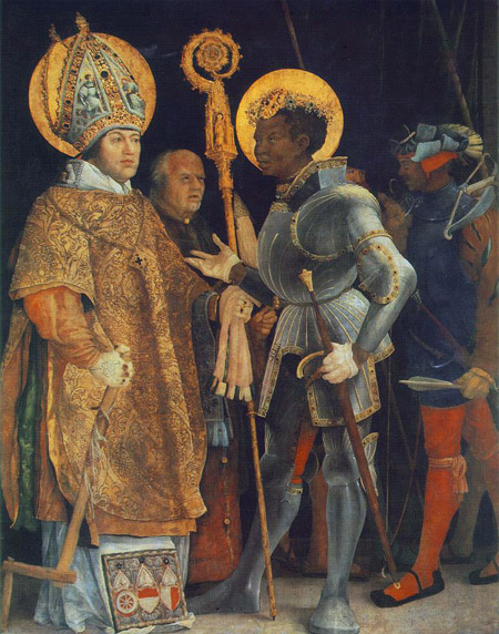Meeting of St Erasmus and St Maurice 1517 1523 | Matthias Grunewald | Oil Painting