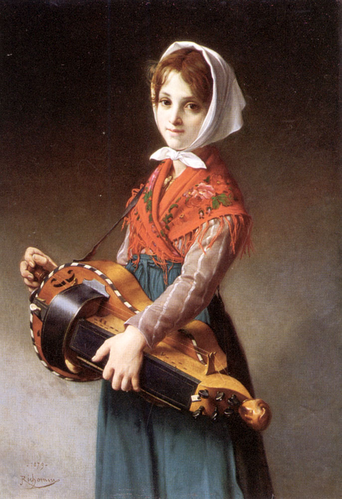 The Hurdy-Gurdy Girl | Jules Richomme | Oil Painting