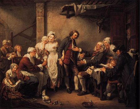 L Accordee de Village 1761 | Jean Baptiste Greuze | Oil Painting