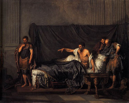 Septimius Severus and Caracalla 1769 | Jean Baptiste Greuze | Oil Painting