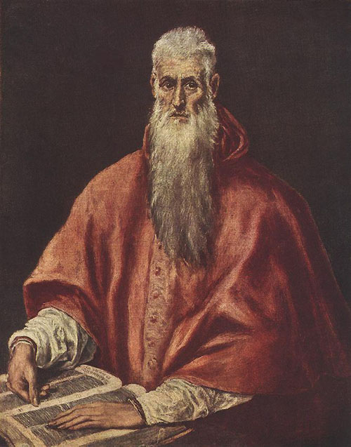 St Jerome as Cardinal 1600 | El Greco | Oil Painting